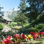 <p>Banff National Park visitor centre and flower garden.</p>