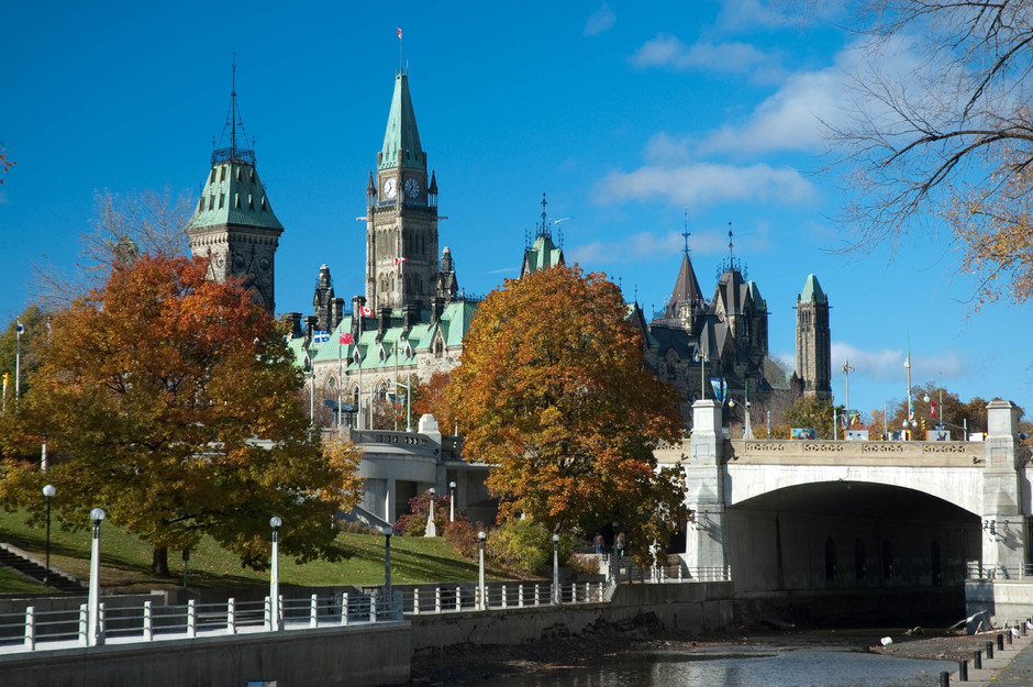 Rideau Canal, Parliament and the Peace Tower
